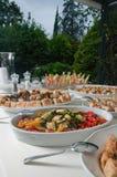 食物接收婚礼 免版税图库摄影