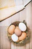 食物摄影,样式,鸡蛋,未加工的成份-面粉,鸡蛋,黄油,糖, 免版税库存图片