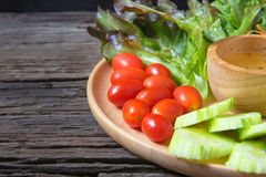 食物新鲜的日本沙拉蔬菜 库存图片