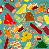 食物无缝的纹理 免版税库存图片
