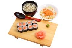 食物日本人午餐 免版税库存照片