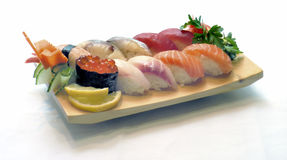 食物日本人寿司 库存照片