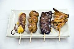 食物日语用针串起yakitor 图库摄影