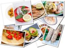 食物明信片 库存图片