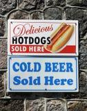 食物标志 免版税库存照片