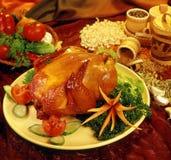 食物格栅母鸡样式 图库摄影