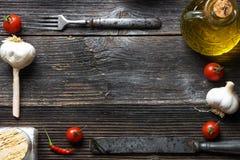 食物框架 免版税库存图片