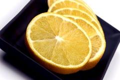 食物桔子片式 库存照片