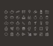食物概述象 免版税库存图片