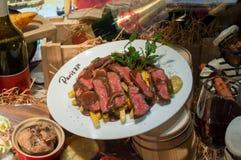 食物模型在京都餐馆 图库摄影