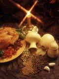 食物母鸡调味料样式 库存图片
