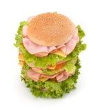 食物汉堡包旧货 免版税库存照片