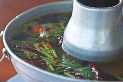 食物汤泰国汤姆yum 免版税库存图片