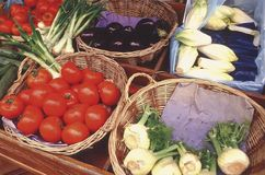 食物法国市场montparnasse巴黎 免版税库存照片