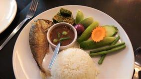 食物泰国传统 辣鲭鱼 免版税库存图片