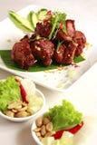 食物泰国膳食的猪肉 免版税库存图片