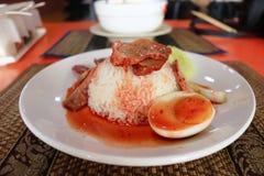 食物泰国茉莉花的米 库存图片