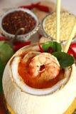 食物泰国虾的汤 库存图片