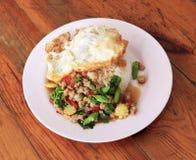 食物泰国kraprao的moo 免版税库存图片
