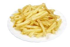 食物炸薯条牌照 免版税图库摄影