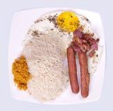 食物牌照斯里兰卡人 库存照片