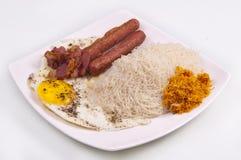 食物牌照斯里兰卡人 免版税库存照片