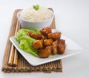 食物猪肉saia酸甜点 免版税库存图片