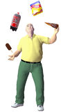 食物玩杂耍旧货人肥胖快餐 图库摄影