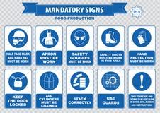 食物生产必须的标志 向量例证