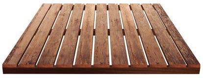 食物的木桌布朗 免版税库存照片