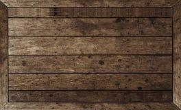 食物的木桌布朗 图库摄影
