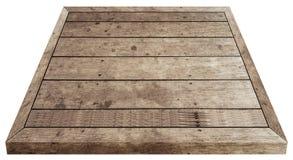 食物的木桌布朗 免版税图库摄影