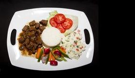 食物盛肉盘  免版税图库摄影