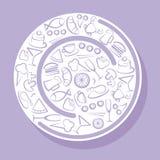 食物符号 免版税库存图片