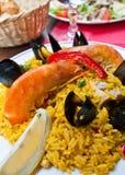 食物肉菜饭西班牙语traditionnal 图库摄影