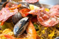 食物肉菜饭西班牙语traditionnal 库存图片