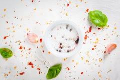 食物背景用香料 图库摄影