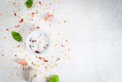 食物背景用香料 库存照片