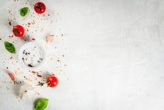 食物背景用香料 免版税库存图片