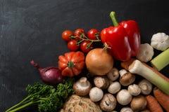 食物背景菜混合 免版税库存图片
