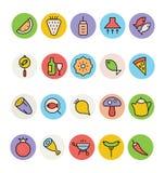 食物色的传染媒介象4 向量例证