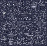 食物草图 库存例证