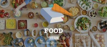 食物菜单健康成份可口概念 库存图片