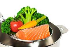 食物蒸汽 图库摄影