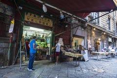 食物街市在巴勒莫在西西里岛,意大利 库存照片