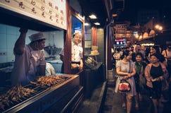 食物街道在北京 免版税库存图片