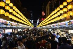 食物街道,台北台湾中国 免版税图库摄影