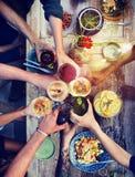 食物表健康可口有机膳食概念 免版税库存图片