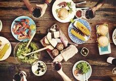 食物表可口膳食准备烹调概念 免版税图库摄影