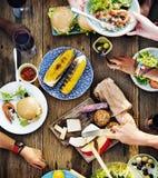 食物表可口膳食准备烹调概念 免版税库存图片